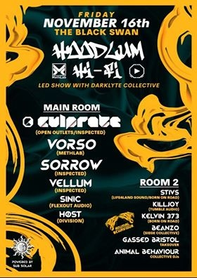 Hoodlum Hi-Fi  w/ CULPRATE, VORSO, SORROW, VELLUM at The Black Swan in Bristol