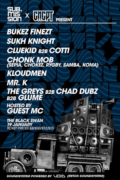 Sub.Mission X CNCPT: Bukez Finezt/ Sukh Knight at The Black Swan in Bristol