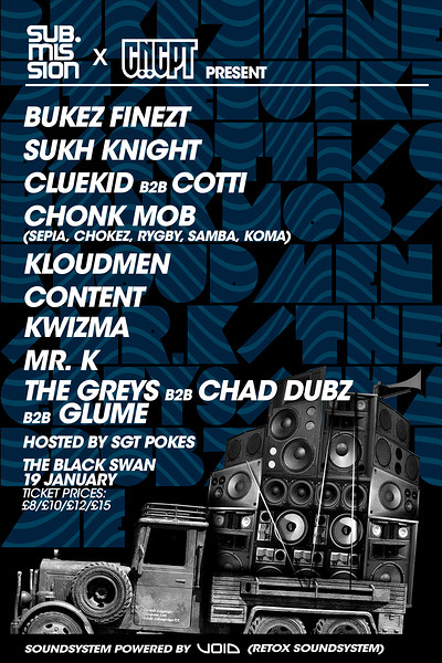 Sub.Mission X CNCPT: Bukez Finezt/ Sukh Knight at The Black Swan in Bristol