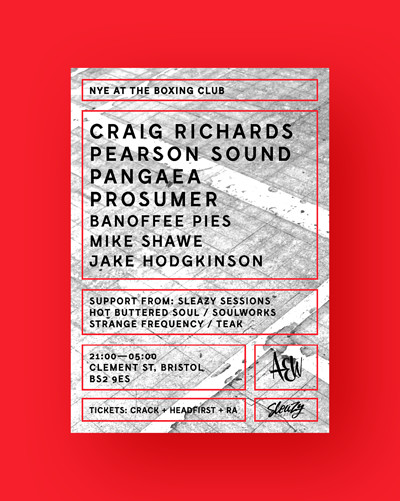 NYE w/ Craig Richards, Pearson Sound, Prosumer... at The Boxing Club in Bristol