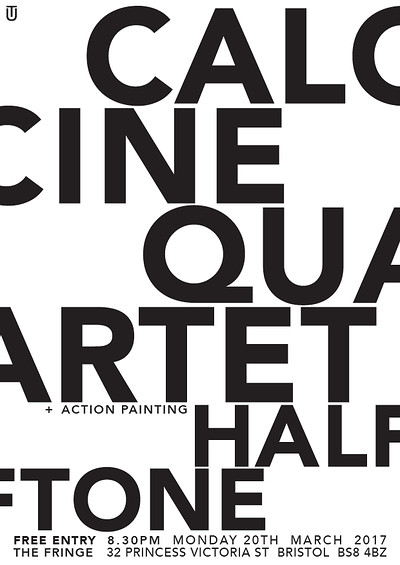 CALCINE QUARTET // HALFTONE at The Bristol Fringe in Bristol