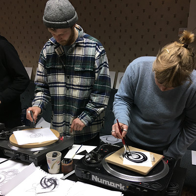 Copper sounds' WAX record making workshop at The Brunswick Club in Bristol