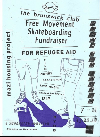 Refugee Fundraiser - Free Movement SB & Mazí Housi at The Brunswick Club in Bristol