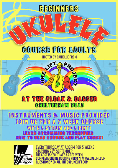 Beginners Ukulele Class at The Cloak and Dagger, 182-184 Cheltenham Road, Bristol, BS65RB in Bristol