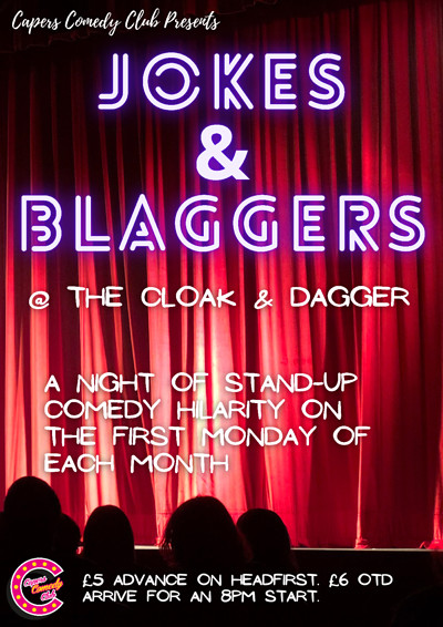 Capers Comedy Club: Jokes & Blaggers at The Cloak and Dagger in Bristol