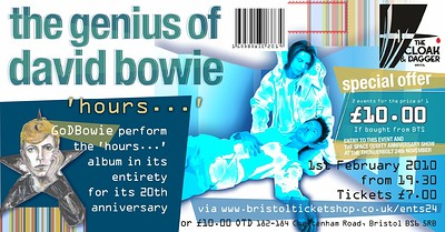 GoDBowie plays hours 20th Anniversary  at The Cloak and Dagger in Bristol