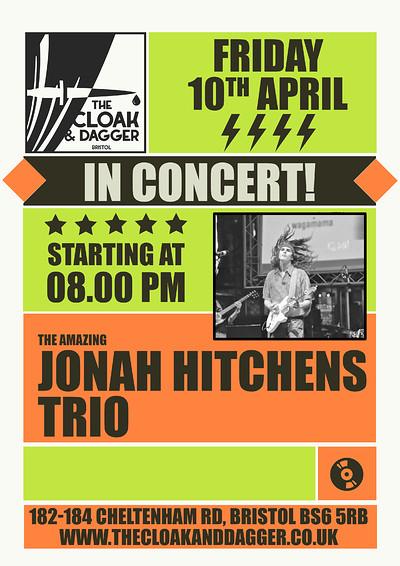 Jonah Hitchens Trio Live at The Cloak and Dagger in Bristol