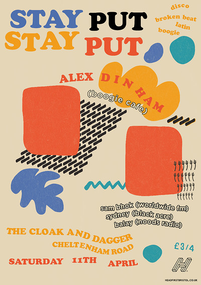 Stay Put w/ Alex Dinham (Boogie Cafe) at The Cloak and Dagger in Bristol