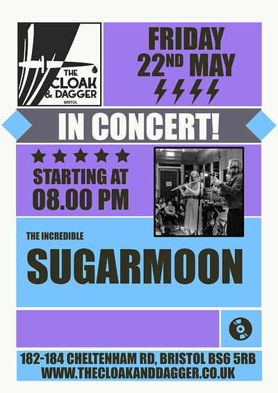 Sugarmoon Live at The Cloak and Dagger in Bristol