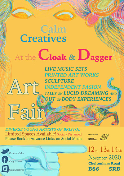 The Calm Creatives Art Fair at The Cloak and Dagger in Bristol