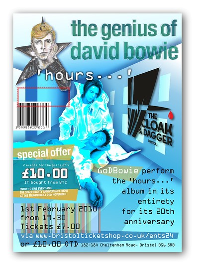 The Genius of David Bowie playing hours…  at The Cloak and Dagger in Bristol