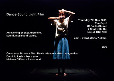 Dance Sound Light Film at The Crypt, St Pauls Church, 2 Southville Rd, BS3 1DG in Bristol