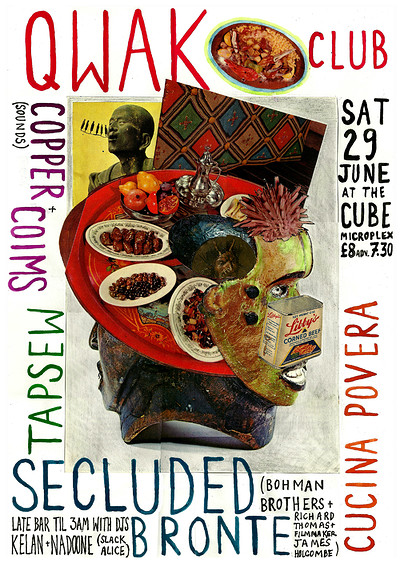 QWAK club #2: Cucina Povera + Secluded Bronte at The Cube in Bristol