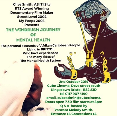 The Windrush Journey Of Mental Health at The Cube in Bristol