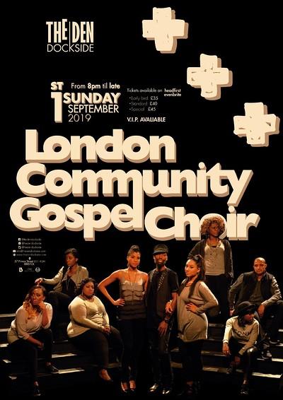 London Community Gospel Choir at The Den at The Den Dockside in Bristol