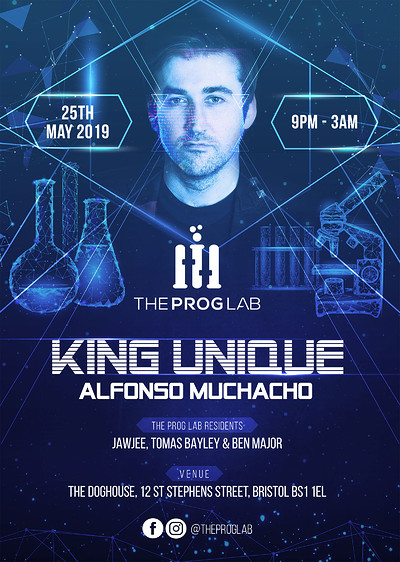 The Prog Lab Pres. King Unique & Alfonso Muchaco at The Doghouse in Bristol