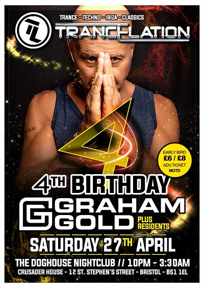 Trancelation's 4th Birthday with Special Guest Gra at The Doghouse in Bristol