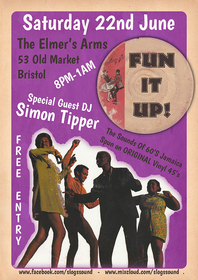 Fun It Up! 22/06/19 Special Guest DJ: Simon Tipper at The Elmer's Arms in Bristol