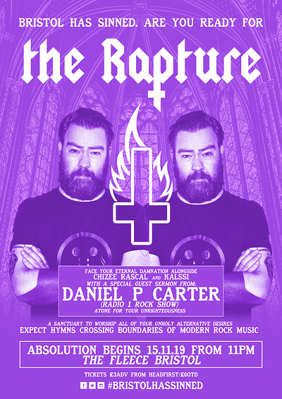 ✞ The Rapture - Bristol - Daniel P Carter DJ Set ✞ at The Fleece in Bristol