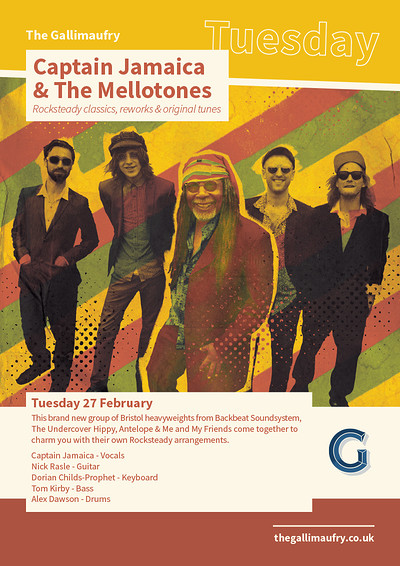 Captain Jamaica & The Mellotones  at The Gallimaufry in Bristol