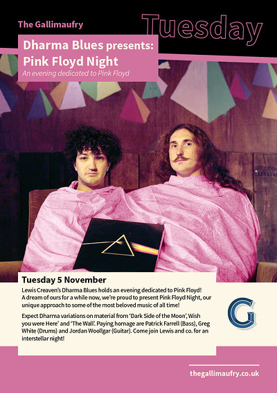 Dharma Blues presents: Pink Floyd Night at The Gallimaufry in Bristol