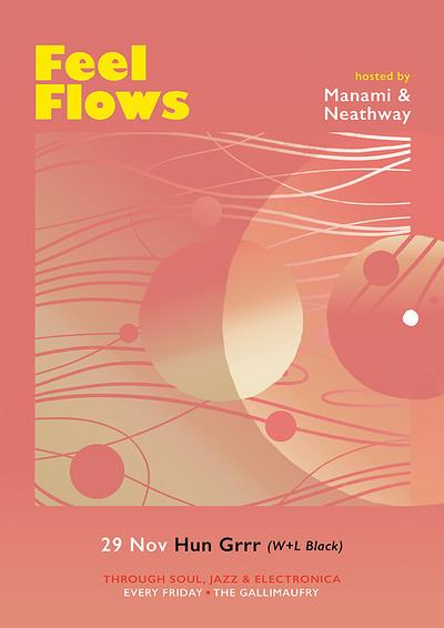 Feel Flows w/ Hun Grrr (W+L Black) at The Gallimaufry in Bristol