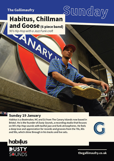 Habitus, Goose & Chillman (6-piece band) at The Gallimaufry in Bristol