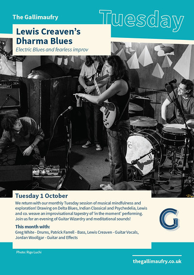 Lewis Creaven's  Dharma Blues  at The Gallimaufry in Bristol