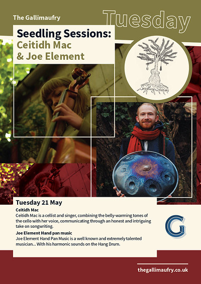 Seedling Sessions w/ Ceitidh Mac & Joe Element at The Gallimaufry in Bristol