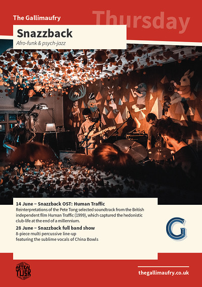 Snazzback - full band show  at The Gallimaufry in Bristol