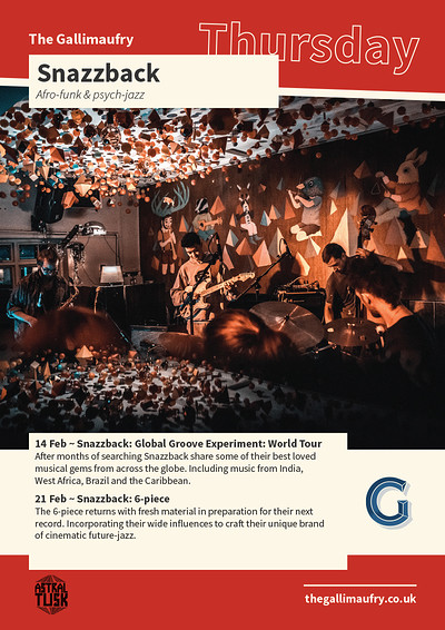Snazzback: Global Groove Experiment: World Tour at The Gallimaufry in Bristol