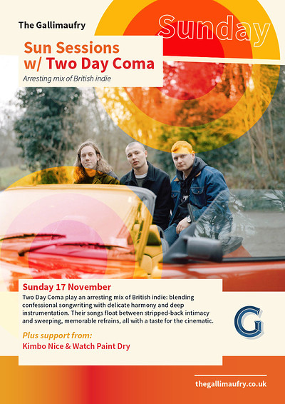 Sun Sessions w/ Two Day Coma  at The Gallimaufry in Bristol