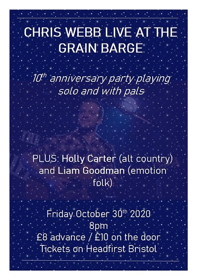 Chris Webb 10th anniversary party at The Grain Barge in Bristol