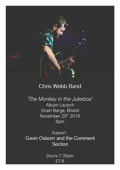 Chris Webb (full band) album launch at The Grain Barge in Bristol