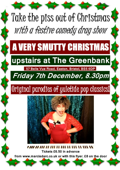 A Very Smutty Christmas on tour at The Greenbank at The Greenbank, 57 Belle Vue Road, Bristol, BS5 6DP in Bristol