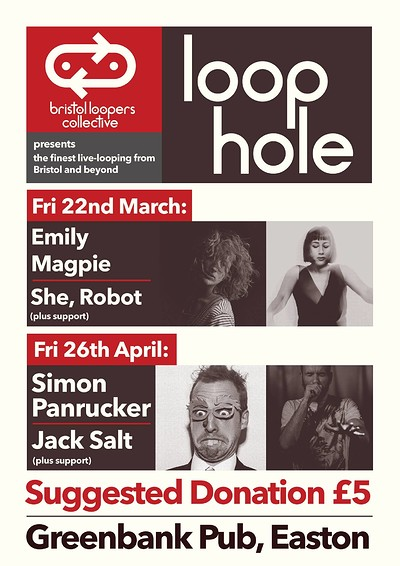 Loophole#3:Simon Panrucker, Jack Salt & AbelArtist at The Greenbank Pub in Bristol