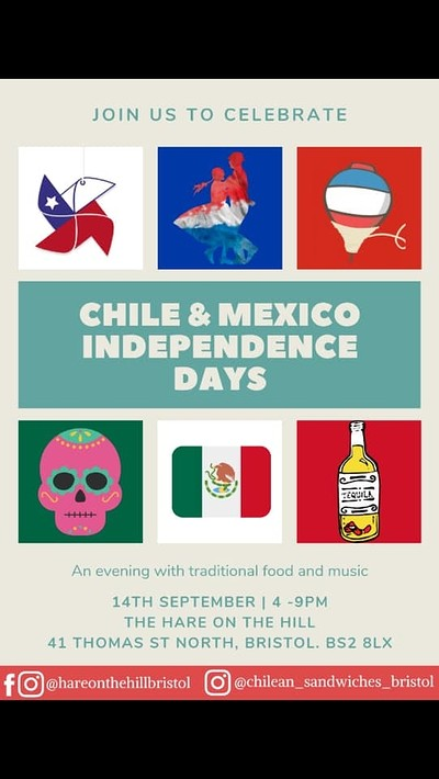 Chilean and Mexican Independence Day Celebration at The Hare on the Hill in Bristol