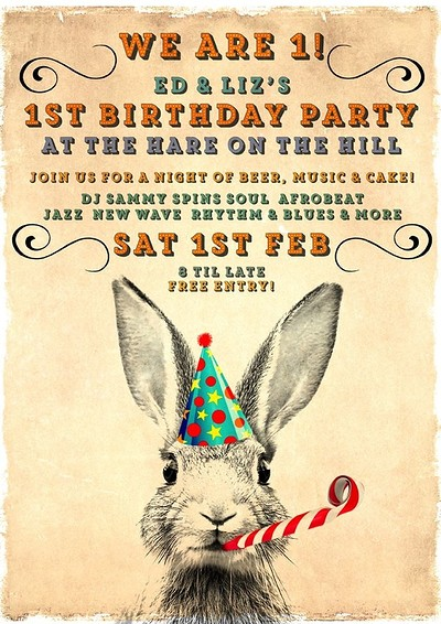 Ed and Liz's 1st birthday party! at The Hare on the Hill in Bristol