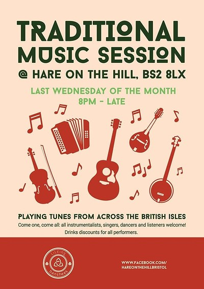 Traditional folk music session at The Hare on the Hill in Bristol