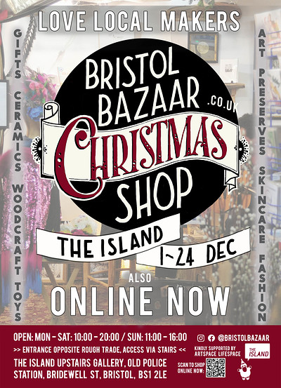 Bristol Bazaar Christmas Makers Pop Up Shop at The Island in Bristol