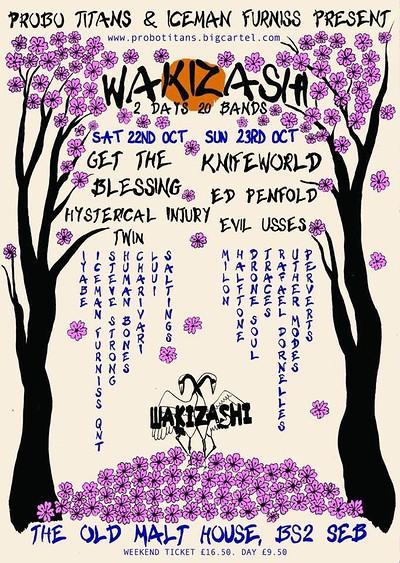 WAKIZASHI - 2 Days , 20 Bands at The Jam Jar Collective in Bristol