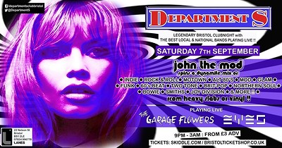 ✰ Department S Club Night  ✰ John The Mod ✰  at The Lanes in Bristol