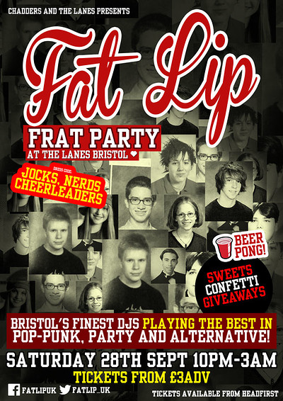★ FAT LIP ★ Frat Party! 28th September @The Lanes at The Lanes in Bristol
