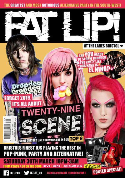 ★ FAT LIP ★ Twenty-Nine-Scene Party! 30th March @T at The Lanes in Bristol