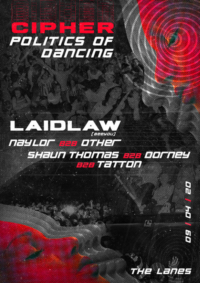 [postponed] Cipher: Politics of Dancing w/ Laidlaw at The Lanes in Bristol