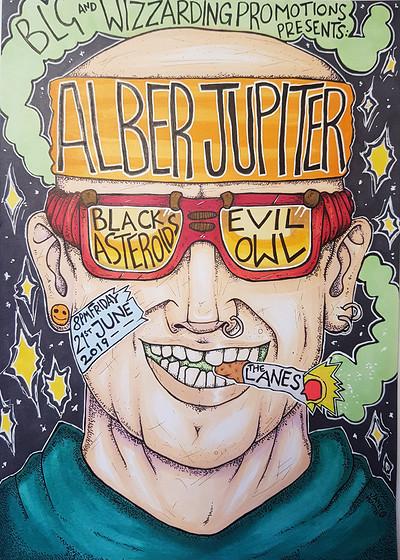 Alber Jupiter / Black Asteroids / Evil Owl at The Lanes in Bristol