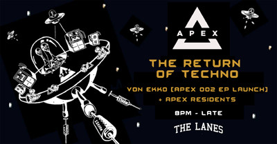 Apex: The Return Of Techno  at The Lanes in Bristol