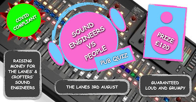 CANCELLED Sound Engineers vs People Pub Quiz at The Lanes in Bristol