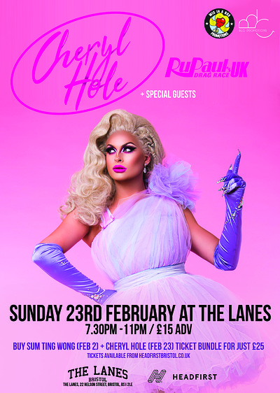 CHERYL HOLE (RU PAUL'S DRAG RACE UK) at The Lanes in Bristol