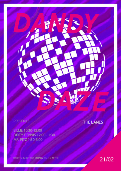 DANDY DAZE Presents // Disco Special at The Lanes in Bristol